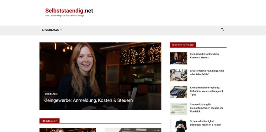 Online-Magazin für Selbstständige: Selbststaendig.net