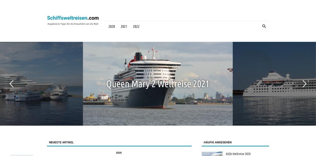 Magazin für Schiffsweltreisen: Schiffsweltreisen.com