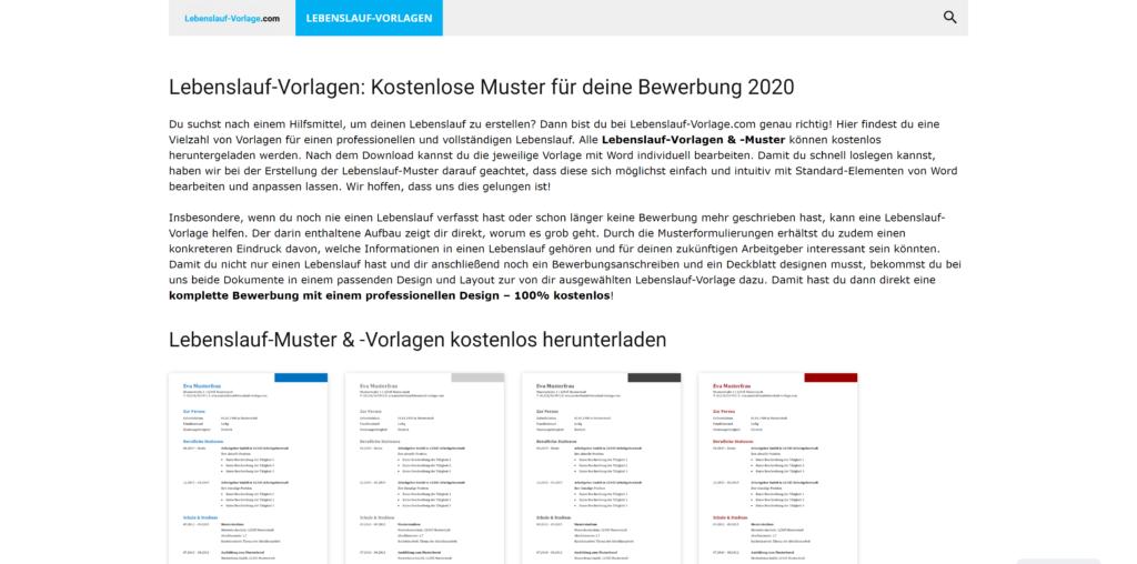 Lebenslauf-Vorlagen & -Muster: Lebenslauf-Vorlage.com