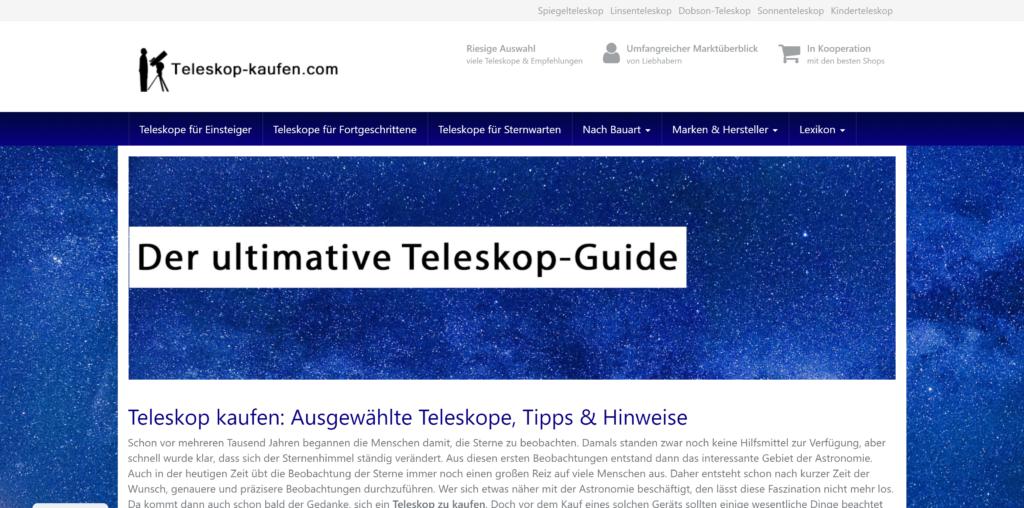 Teleskop-Kaufen.com: Ratgeber für Teleskope